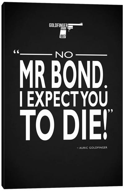 James Bond - Expect You To Die Canvas Art Print