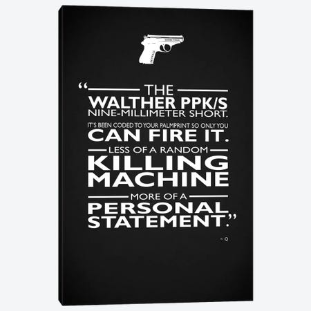James Bond Personal Statement Canvas Print #RGN715} by Mark Rogan Canvas Art Print