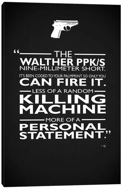 James Bond Personal Statement Canvas Art Print
