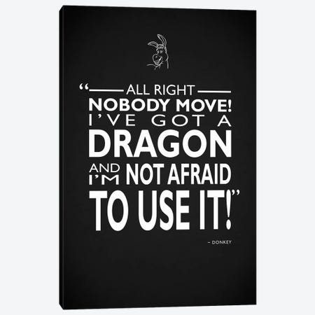 Shrek Ive Got A Dragon Canvas Print #RGN720} by Mark Rogan Art Print