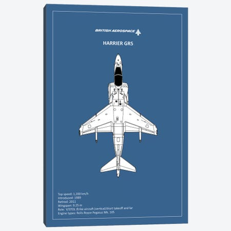BP BAE HarrierGR5  Canvas Print #RGN733} by Mark Rogan Canvas Artwork