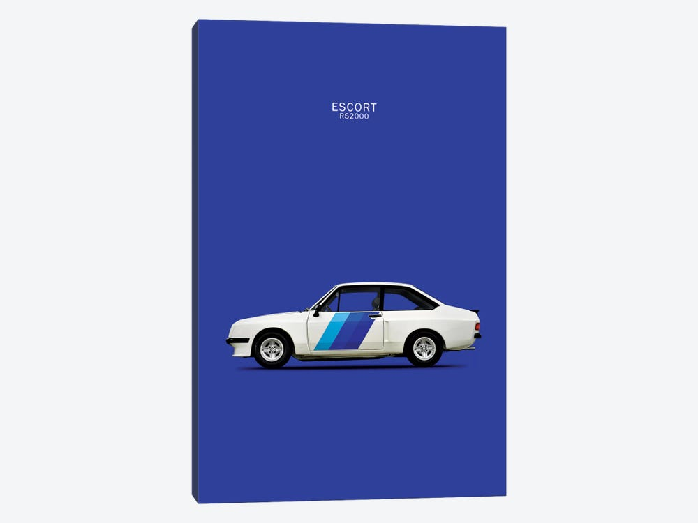 1978 Ford Escort RS2000 by Mark Rogan 1-piece Canvas Wall Art