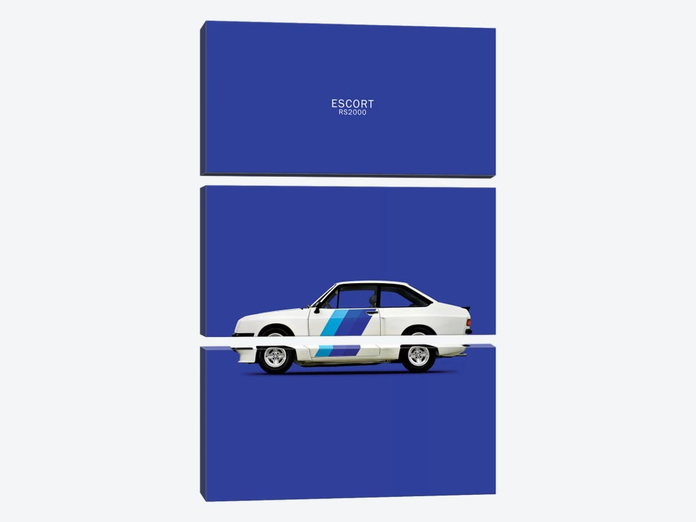 1978 Ford Escort RS2000 by Mark Rogan 3-piece Canvas Artwork