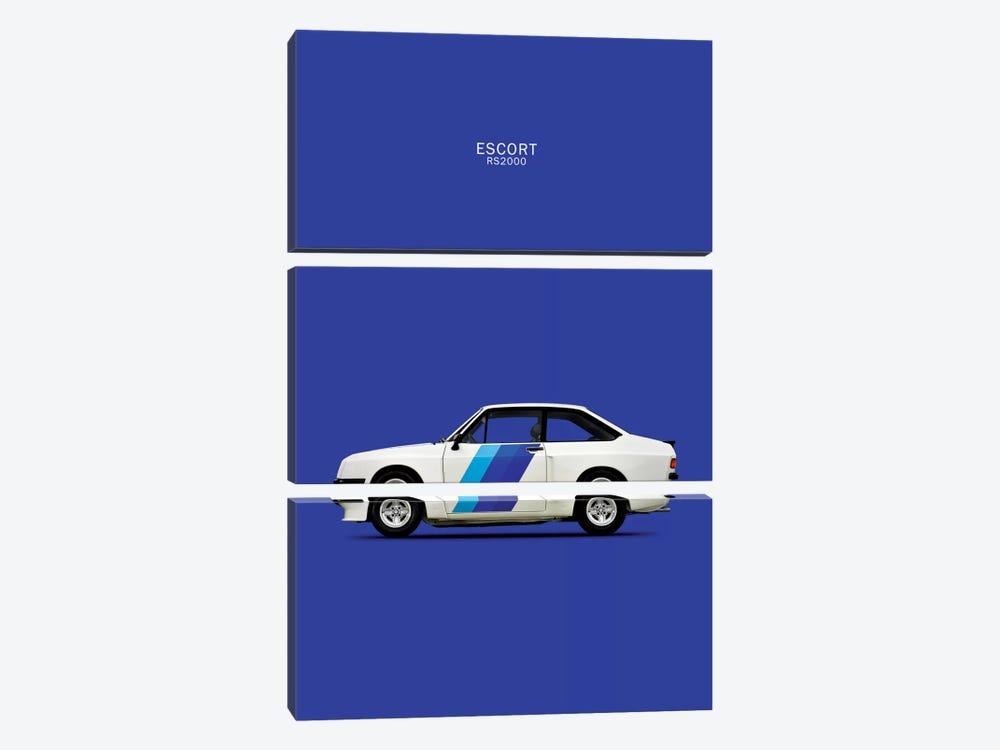 1978 Ford Escort RS2000 by Mark Rogan 3-piece Canvas Artwork