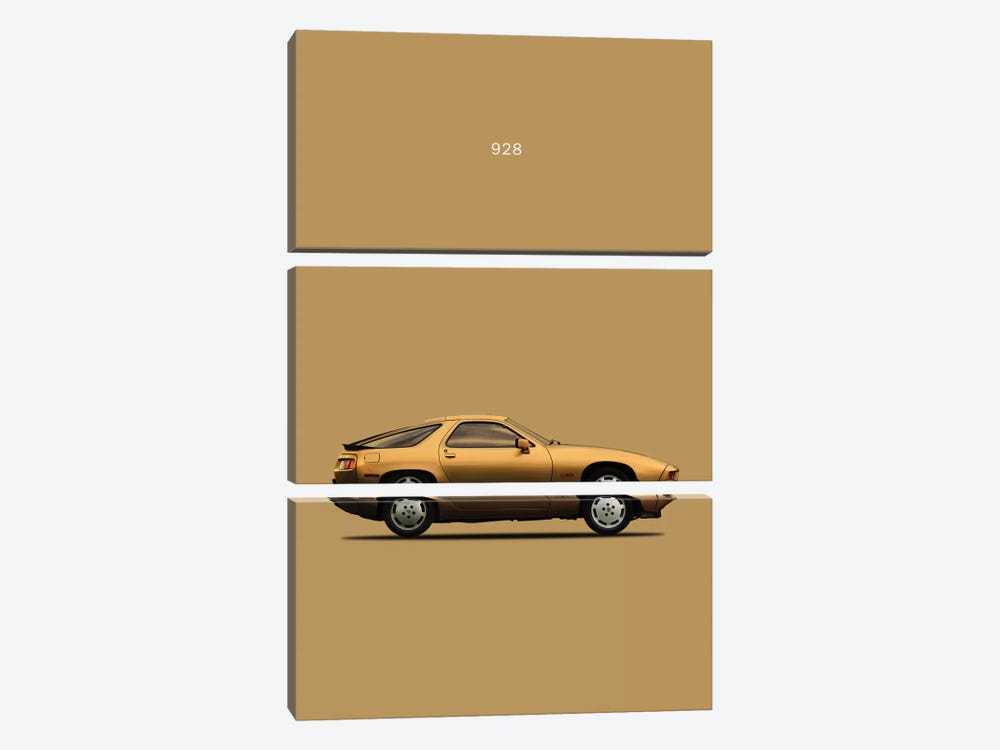 1979 Porsche 928 by Mark Rogan 3-piece Canvas Art