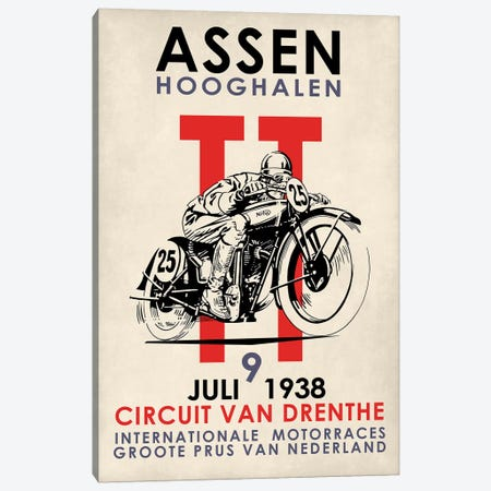 Assen TT Motorcycle Races 1938 Canvas Print #RGN778} by Mark Rogan Canvas Art