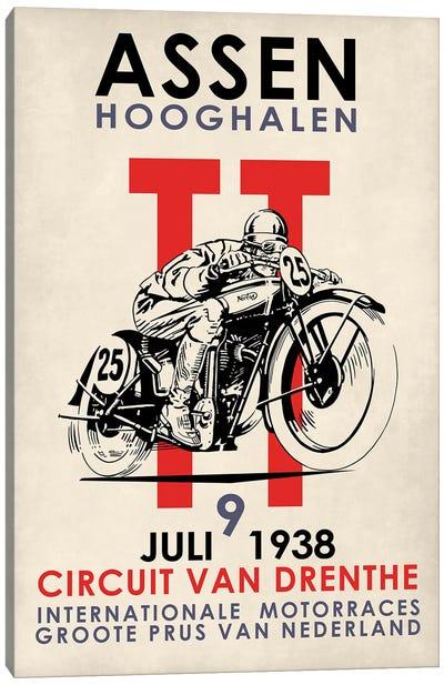 Assen TT Motorcycle Races 1938 Canvas Art Print