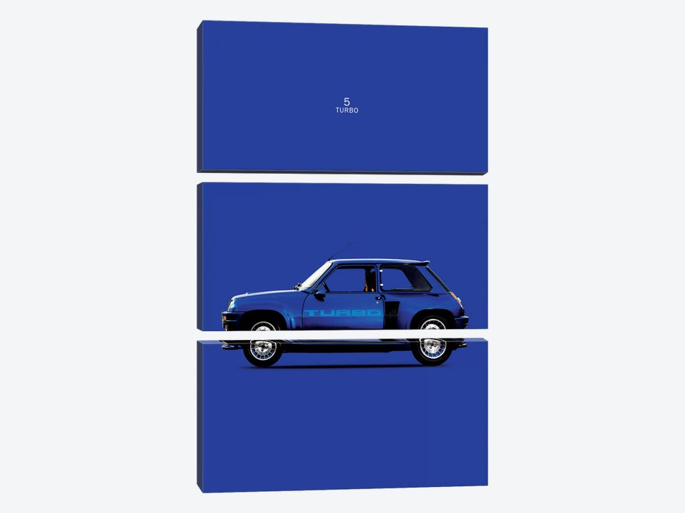 1983 Renault 5 Turbo by Mark Rogan 3-piece Canvas Artwork
