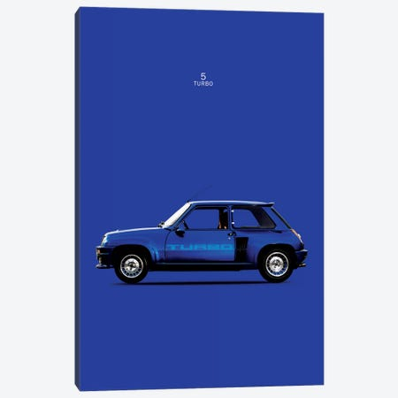 1983 Renault 5 Turbo Canvas Print #RGN77} by Mark Rogan Canvas Wall Art