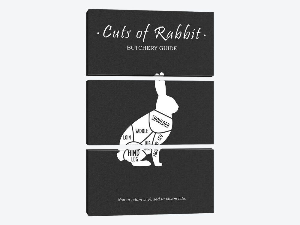 Butchery Rabit by Mark Rogan 3-piece Art Print