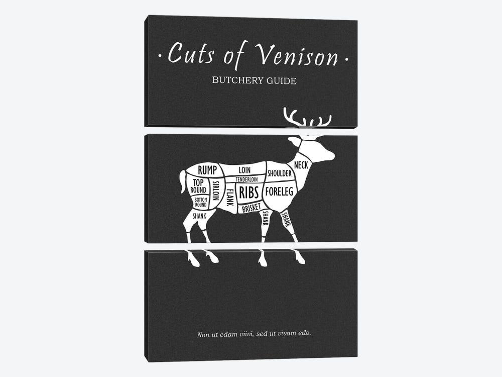 Butchery Venison by Mark Rogan 3-piece Canvas Artwork