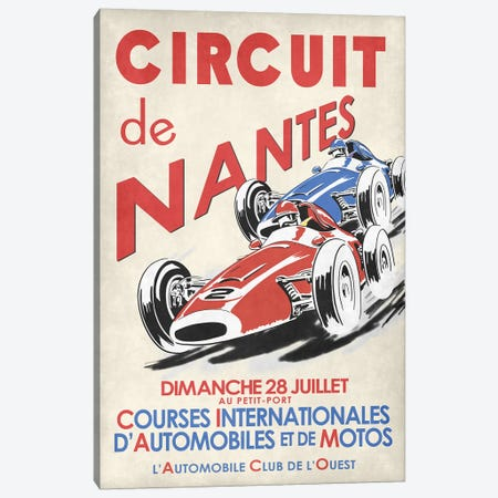 Circuit De Nantes 1946 Canvas Print #RGN793} by Mark Rogan Canvas Art