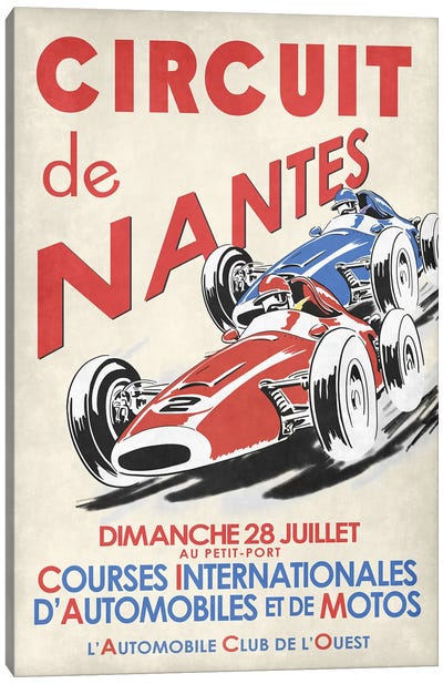Circuit De Nantes 1946 Canvas Art Print