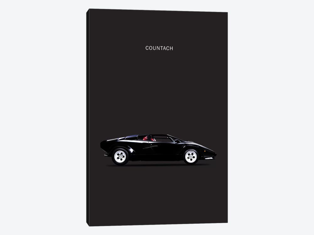 1984 Lamborghini Countach by Mark Rogan 1-piece Canvas Art