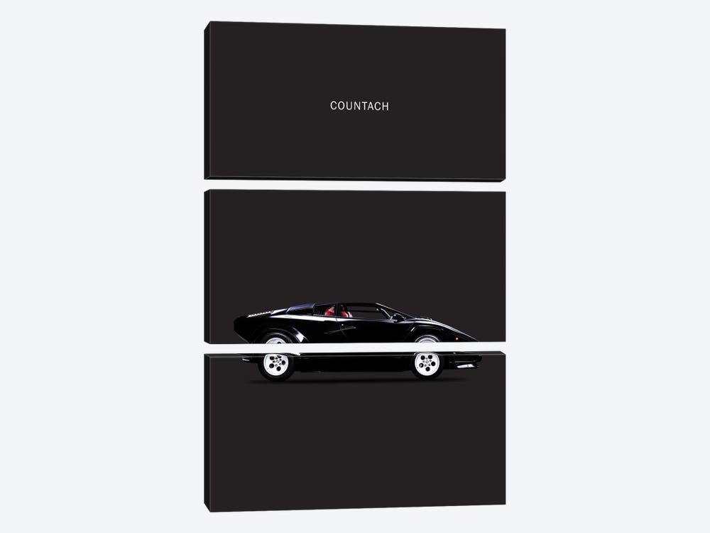 1984 Lamborghini Countach 3-piece Canvas Art
