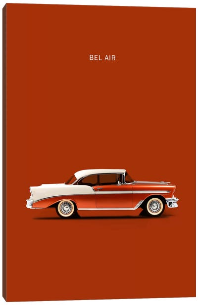 1956 Chevrolet Bel Air Canvas Art Print
