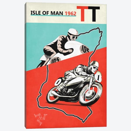 Isle Of Man TT 1962 Canvas Print #RGN800} by Mark Rogan Canvas Artwork