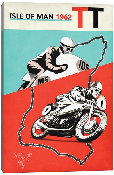 Isle Of Man TT 1962 Canvas Art Print