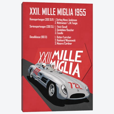 Mille Miglia XXII Canvas Print #RGN801} by Mark Rogan Canvas Art