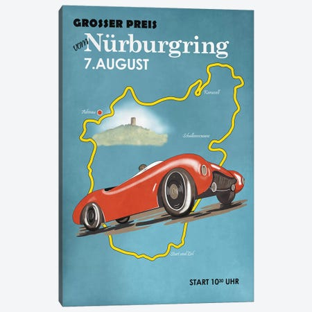Nurburgring Motorcycle Racing Canvas Print #RGN808} by Mark Rogan Canvas Art
