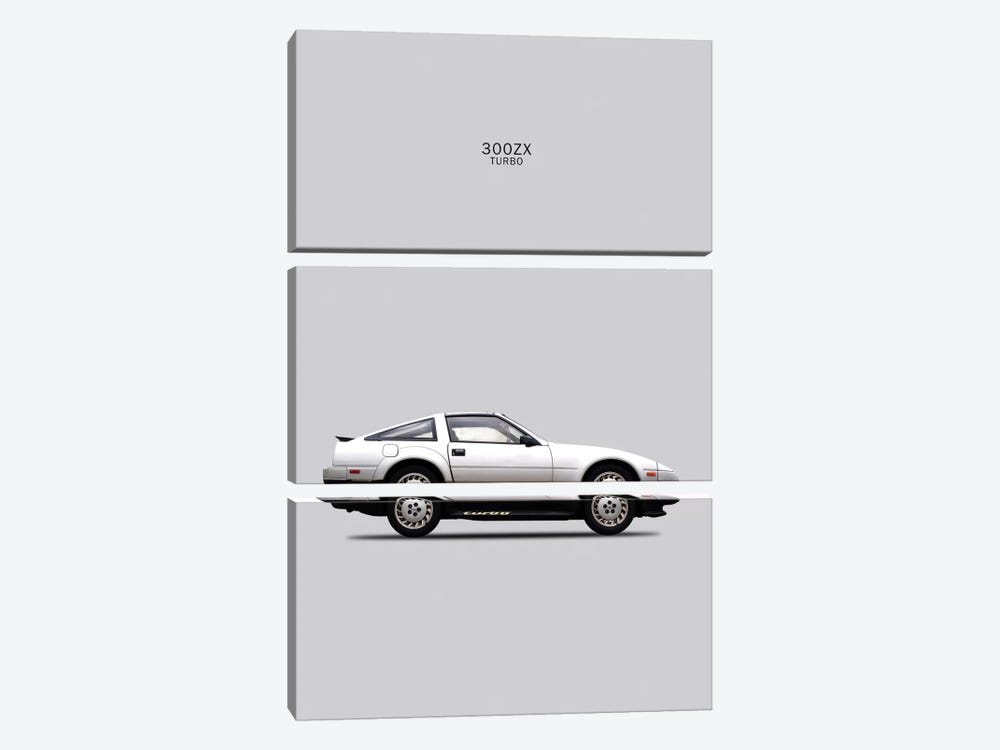 1984 Nissan 300ZX Turbo by Mark Rogan 3-piece Canvas Artwork