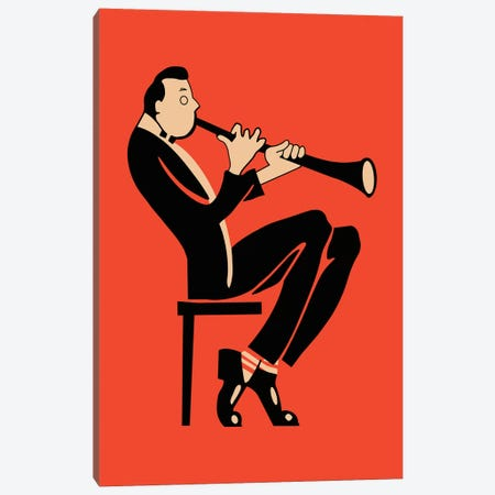 The Clarinet Canvas Print #RGN817} by Mark Rogan Canvas Art