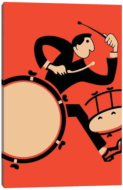 The Drummer Canvas Art Print