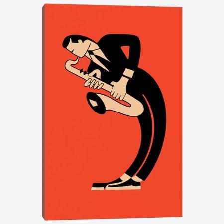 The Saxophone Canvas Print #RGN823} by Mark Rogan Canvas Wall Art