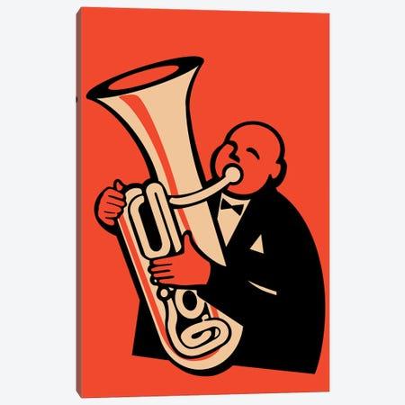 The Tuba Canvas Print #RGN828} by Mark Rogan Canvas Wall Art
