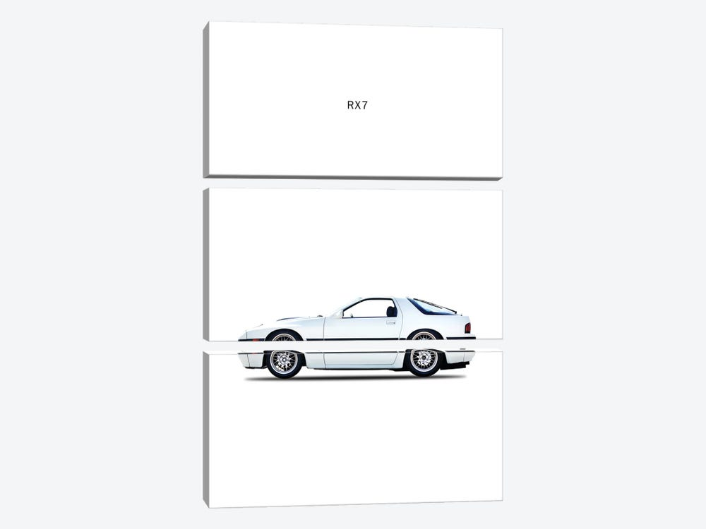 1988 Mazda RX7 by Mark Rogan 3-piece Canvas Print