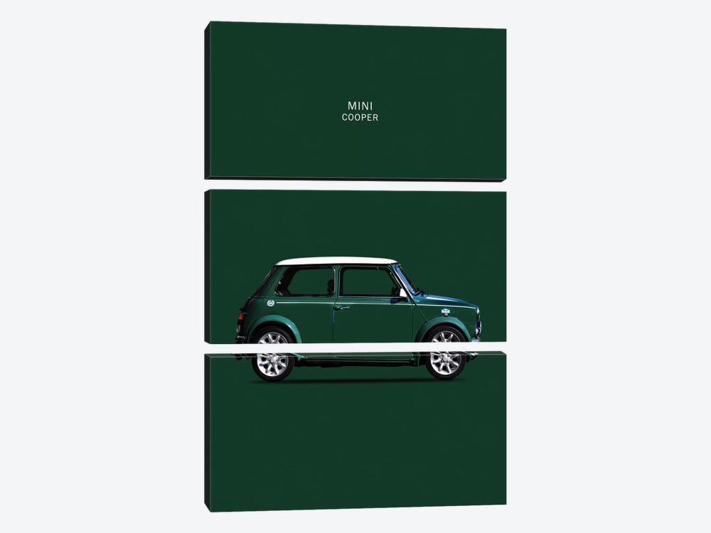 1999 Mini Cooper by Mark Rogan 3-piece Canvas Wall Art
