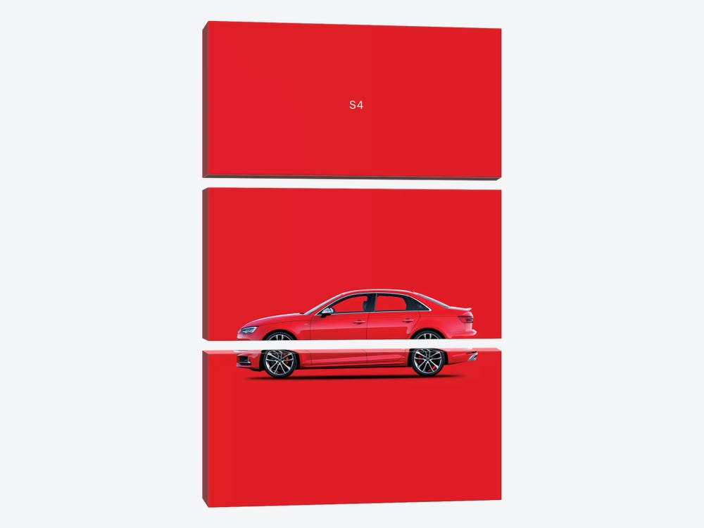 2015 Audi S4 by Mark Rogan 3-piece Canvas Artwork