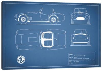 AC Cobra Roadster (Blue) Canvas Print #RGN87