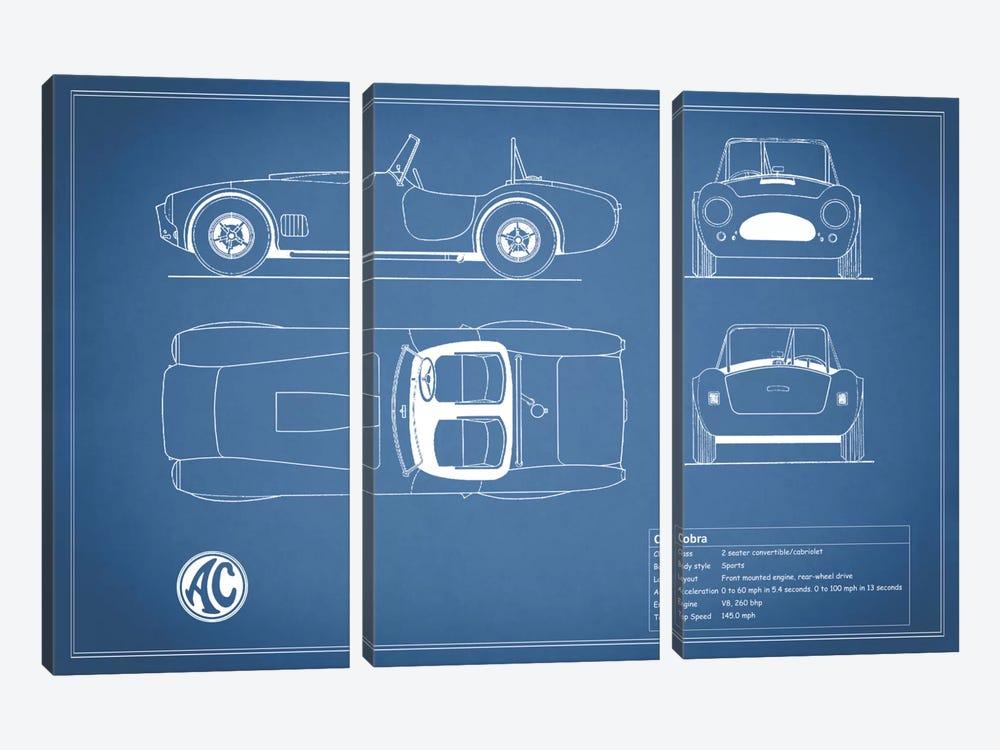 AC Cobra Roadster (Blue) by Mark Rogan 3-piece Art Print
