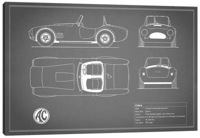 AC Cobra Roadster (Grey) Canvas Print #RGN88