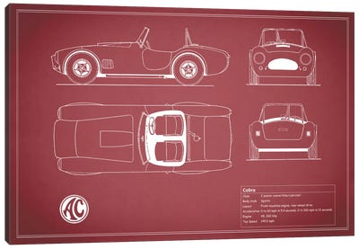 AC Cobra Roadster (Maroon) Canvas Art Print
