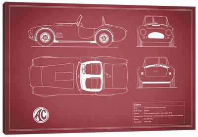 AC Cobra Roadster (Maroon) Canvas Print #RGN89