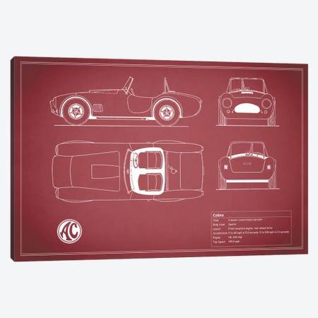 AC Cobra Roadster (Maroon) Canvas Print #RGN89} by Mark Rogan Canvas Art