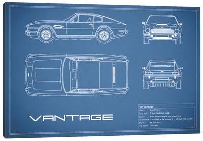 Aston Martin V8 Vantage (Blue) Canvas Art Print