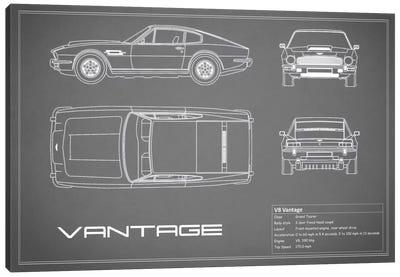 Aston Martin V8 Vantage (Grey) Canvas Art Print