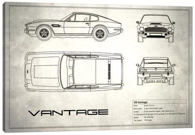Aston Martin V8 Vantage (Vintage Silver) Canvas Art Print