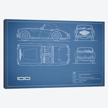 Austin-Healey 100 (Blue) Canvas Print #RGN99} by Mark Rogan Canvas Print