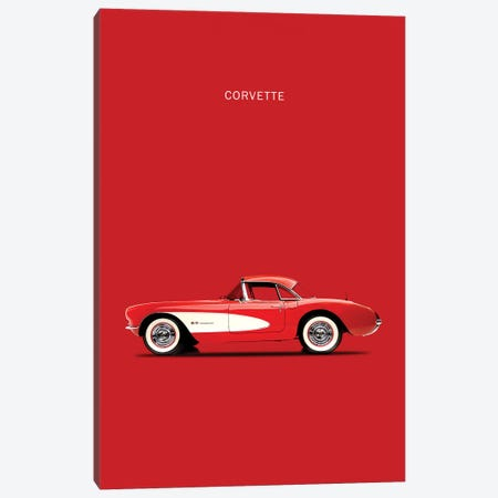 1957 Chevrolet Corvette Canvas Print #RGN9} by Mark Rogan Canvas Art