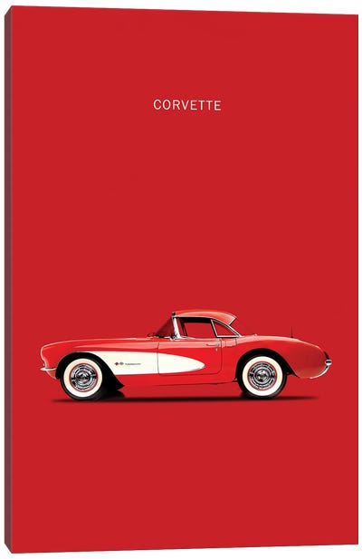 1957 Chevrolet Corvette Canvas Art Print