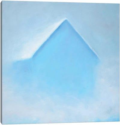 Blue Morning Barn Canvas Art Print