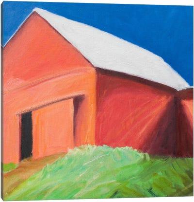 Bold Red Canvas Art Print