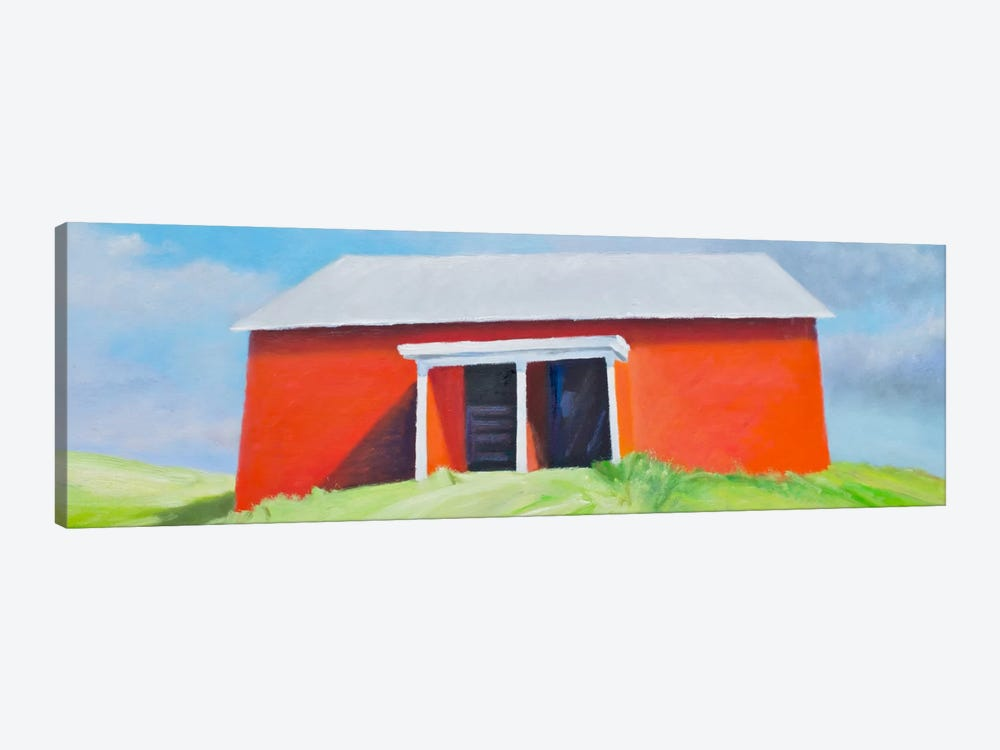 Head On Barn 1-piece Art Print