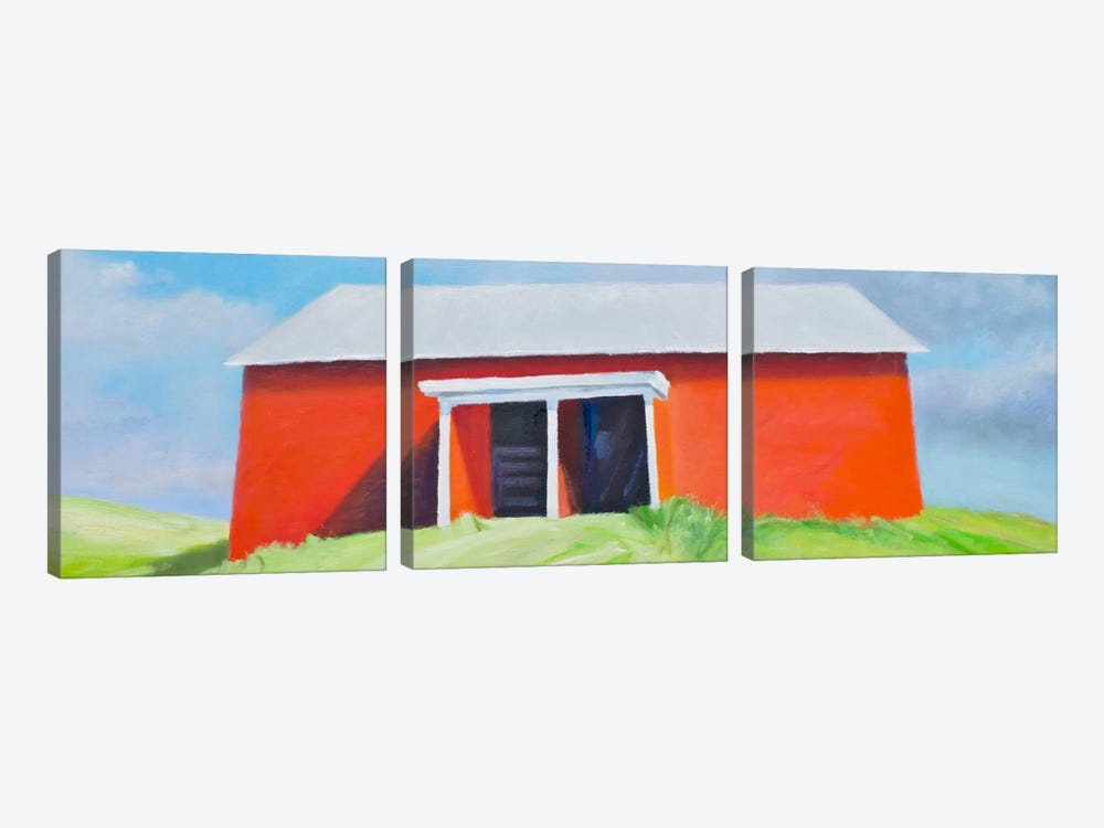 Head On Barn by Rich Gombar 3-piece Canvas Print