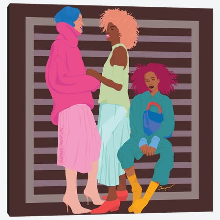 Girlfriends Canvas Print #RGR13} by Ragni Agarwal Canvas Art Print