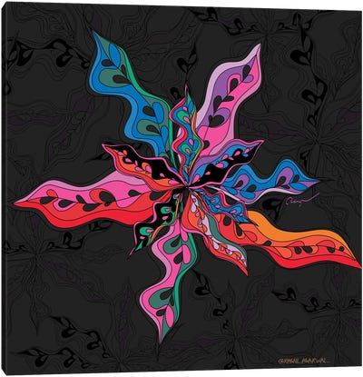 Flora Burst Canvas Art Print